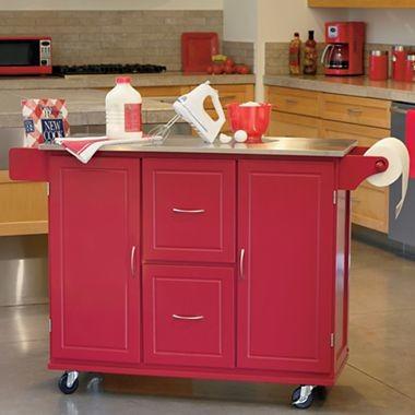 jefferson kitchen cart red traditional kitchen