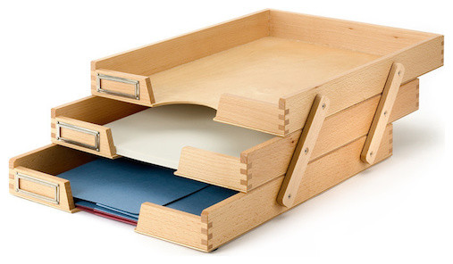 Beech Filing Trays - Traditional - Filing Cabinets - by Manufactum