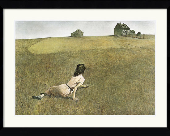 Amanti Art - Christina's World Framed Print by Andrew Wyeth - Andrew Wyeth's iconic painting of a girl paralyzed by Polio has captivated countless admirers for decades. Hang it proudly in your home as a tribute to 20th century art.