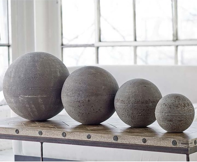 Regina Andrew Rusty Zinc Spheres Eclectic Home Decor