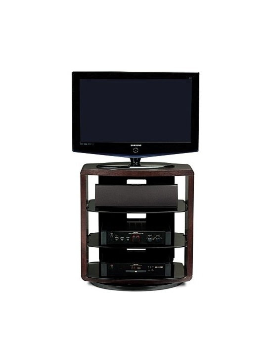 "BDI - BDI | Valera Tall Swivel TV Stand 9721 - The open style of the Valera Tall Swivel TV Stand 9721, beautifully frames home theater systems. Offering 30.5"" in height, this stand excels in bedrooms or any location where a little extra height would benefit television viewing. Valera is corner friendly and features swivel settings for 360° rotation, 30° rotation, and can be secured in place.Product Features:  Corner friendly Integrated swivel Three swivel settings include 360°, 30° for corners, and secured in place Cable management system Adjustable shelf Flow-through ventilation Grey tinted tempered glass Supports up to 37"" flat panel TV Component capacity for 3-5 units"