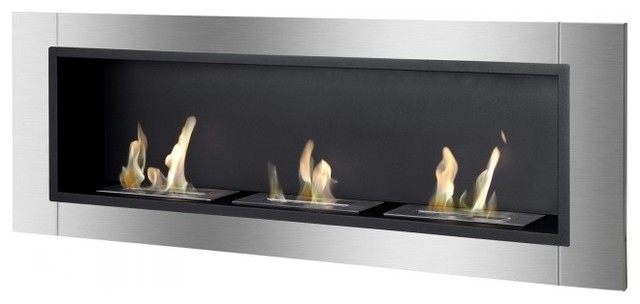 Ardella Ethanol Fireplace Recess Or Wall Mounted Without Safety Glass Contemporary Indoor