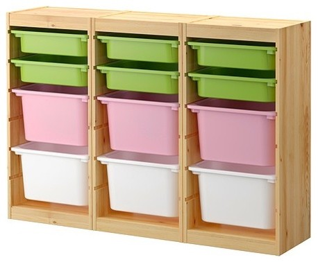 Trofast Storage Combination With Boxes modern-toy-organizers