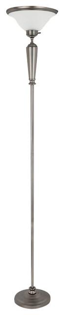 Coaster Floor Lamp in Gun Metal transitional-floor-lamps