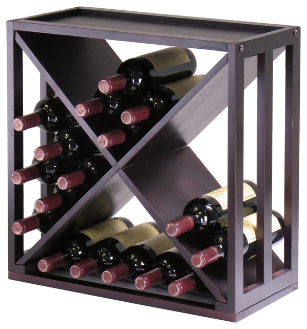 "Kingston Modular ""X"" Cube Holds 24-Bottle, Stackable contemporary-wine-racks"