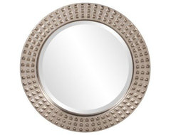 Studded Large Round Wall Mirror - 30 diam. in. modern mirrors