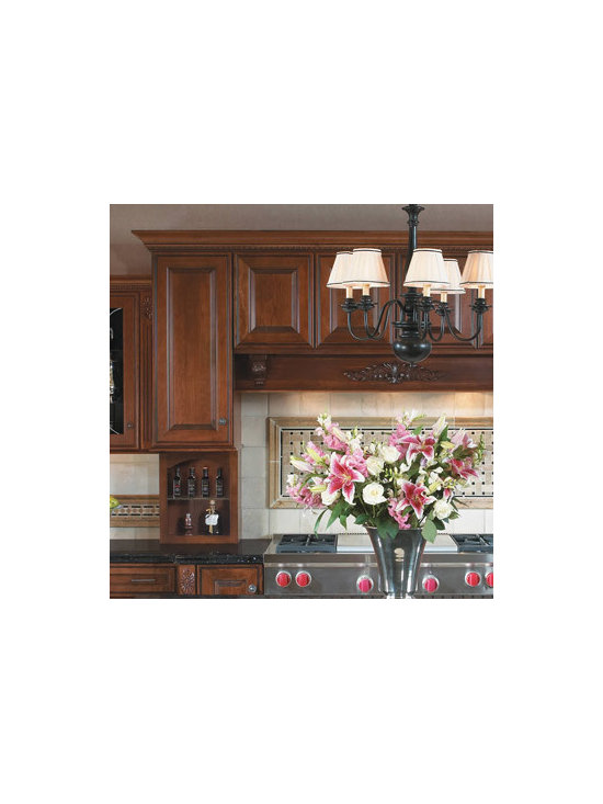 Wall Mantle Hood - When you opt for a Wall Mantle Hood Cabinet, storage is all around you as you cook. Wall cabinets are required on either side of the cook-top to support the hood structure.
