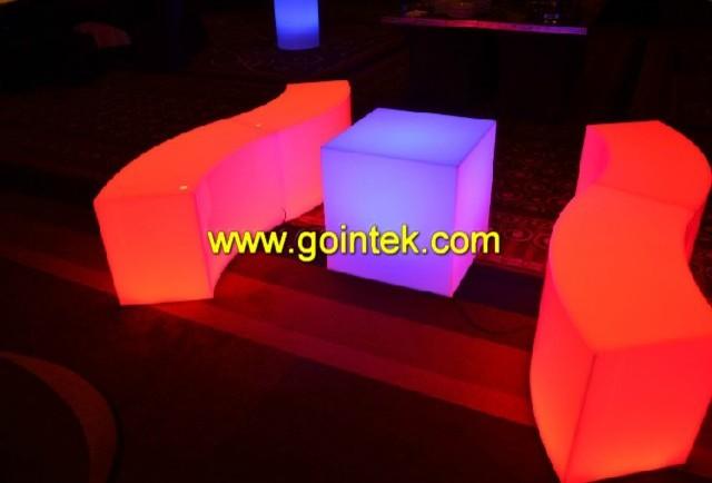 LED glowing longe bench modern-benches