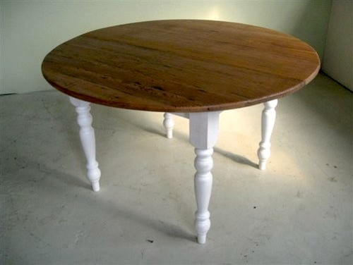 Round Wood Farm Table For Kitchen Farmhouse Dining Tables Boston
