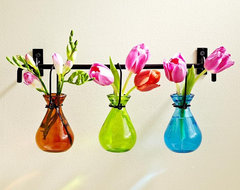 Hanging Glass Bud Vases eclectic-vases