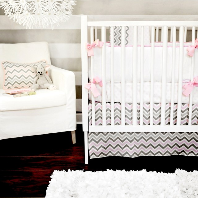 Peace, Love & Pink Baby Bedding modern-baby-bedding