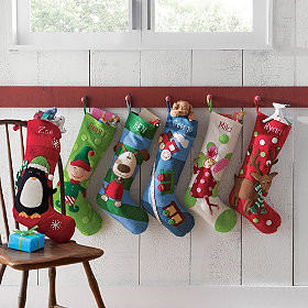 Contemporary Christmas Stockings And Holders by The Company Store