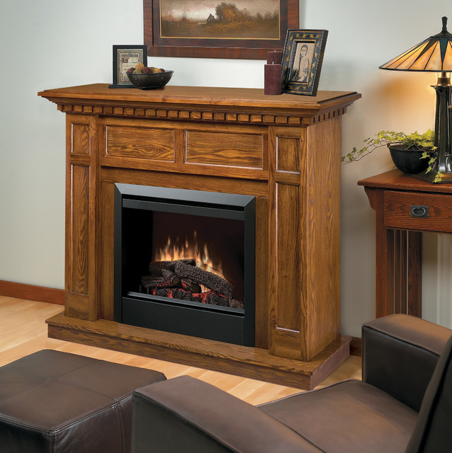 Caprice Oak Electric Fireplace Mantel Package DFP4743O