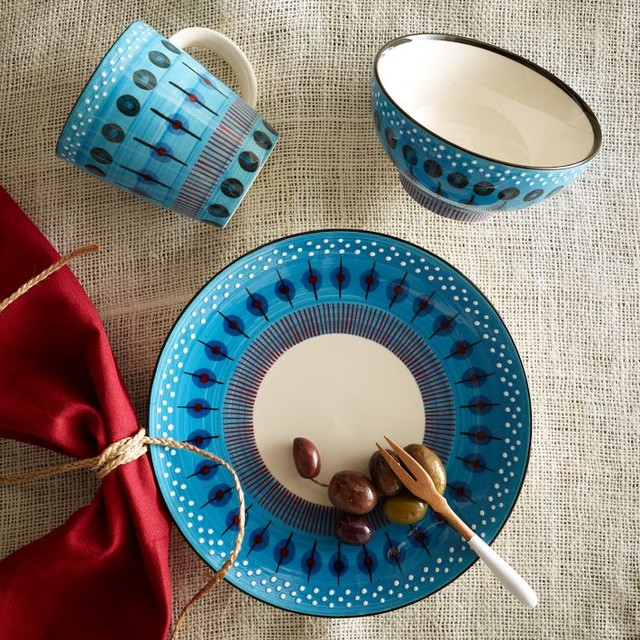 Potter's Workshop Tableware, Blue modern dinnerware
