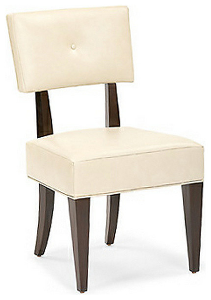 Wilshire blvd upholstered side chair contemporary for Upholstered dining chairs contemporary
