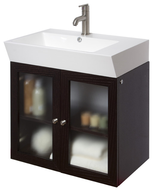 vigo 25 inch single bathroom vanity wenge without extras