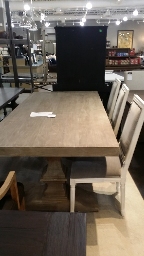 How to protect unfinished wood dining table from for Kitchen table with insert