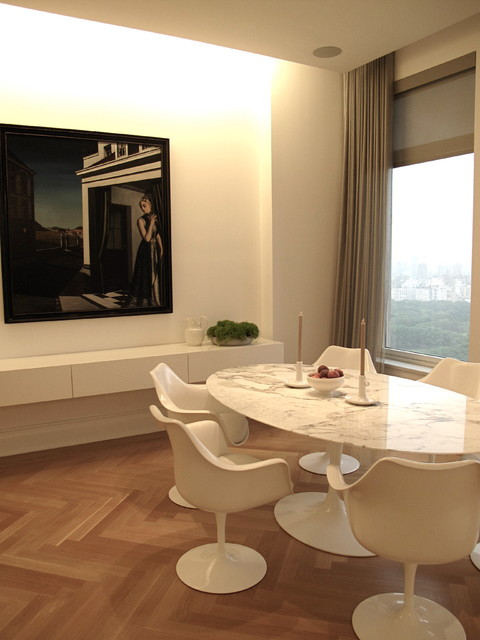 Contemporary Central Park West pied-a-terre modern-dining-room