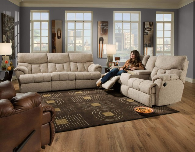 Recline Designs Re Energize Reclining Sofa Console Loveseat Lf Wall Hugger Contemporary