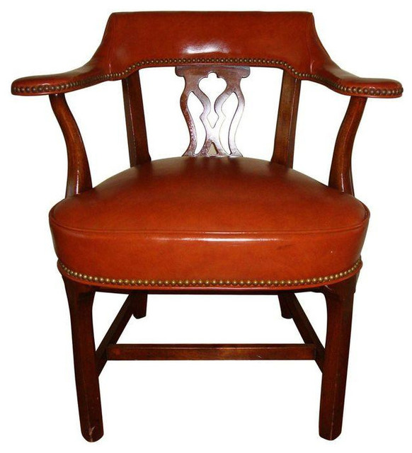 Vintage Captains Chair by Hickory Chair - $475 Est. Retail - $250 on Chairish.co transitional-armchairs-and-accent-chairs