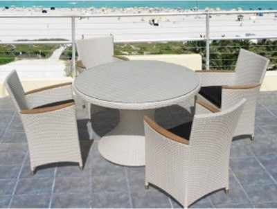 Royal Teak Helena All-Weather Wicker Arm Chair contemporary-patio-furniture-and-outdoor-furniture