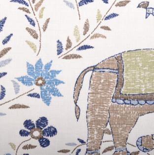 "Duralee ""21035-108 Blue/Brown"" fabric"