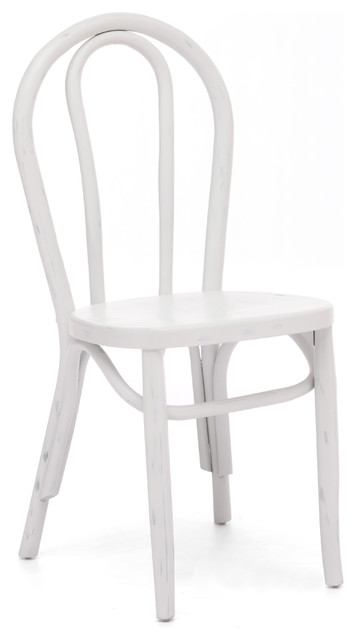 Nob Hill Chairs, Antique White, Set of 2 beach-style-dining-chairs