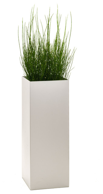 modern tower planter dove extra large modern outdoor pots and planters by puremodern. Black Bedroom Furniture Sets. Home Design Ideas