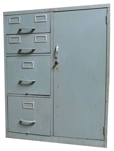 Used Tower Industrial File Cabinet - Modern - Filing Cabinets And Carts - by Chairish