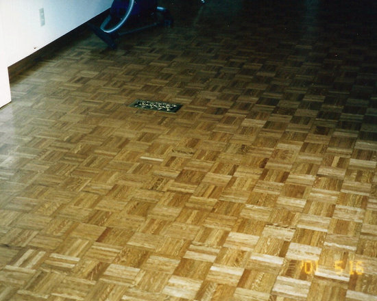 Stained parquet -