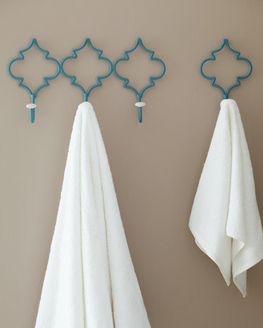 Château Wall Hook, Turquoise contemporary-wall-hooks