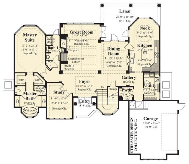 Sater Design Collection 39 S 8037 Raphaello Home Plan