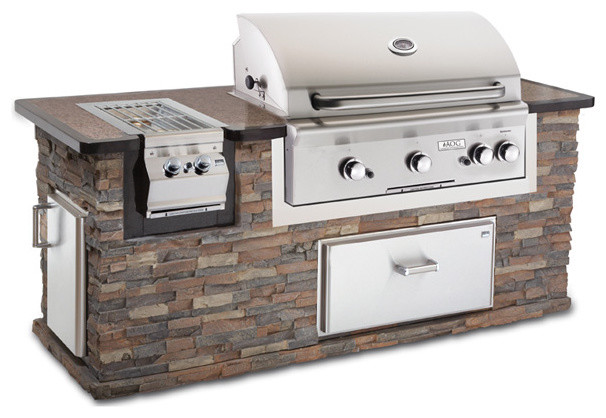 Fire Magic 790 Pre-Fab Barbecue Island - contemporary - grills