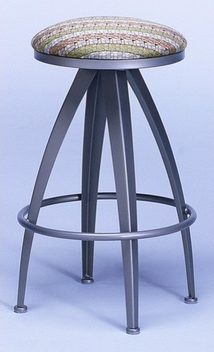 Stiletto Contemporary Backless Swivel Barstool modern-bar-stools-and-counter-stools