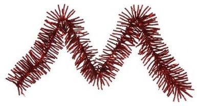 Vickerman 9 ft. Red Pre-lit Mini Garland modern-holiday-decorations