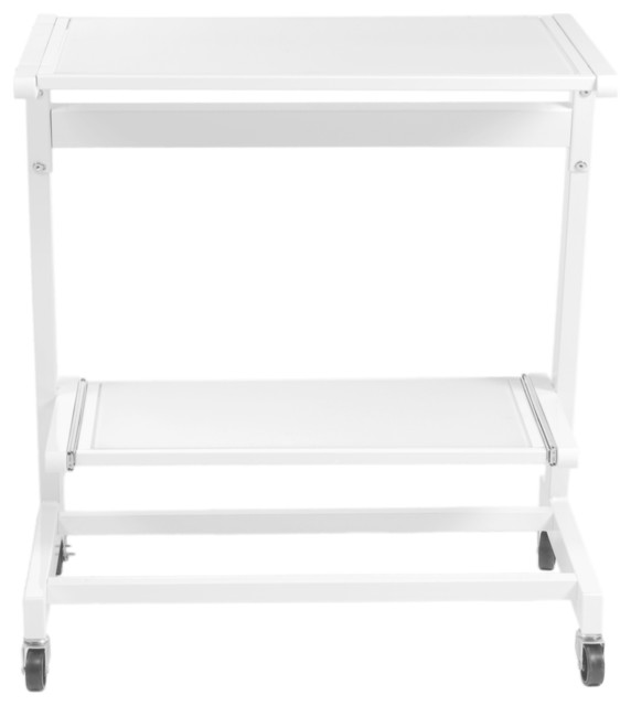 Zeus Computer Cart without Keyboard Tray-White/Pure contemporary-filing-cabinets