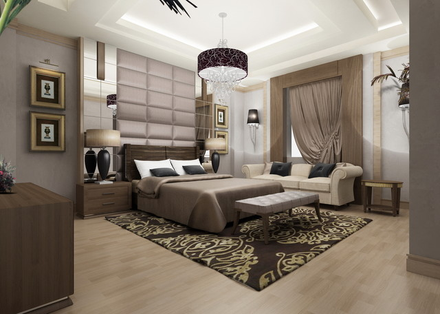 contemporary bedroom by Yasser Moustafa