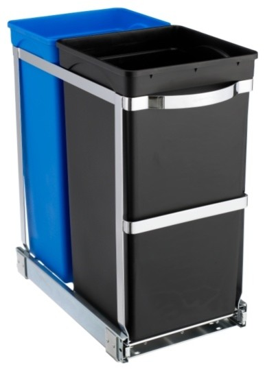 pull out recycler bin wastebaskets other metro by. Black Bedroom Furniture Sets. Home Design Ideas