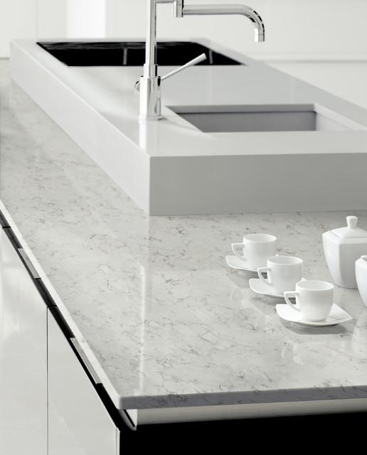 Blanco Featured In Beautiful Kitchens On Houzz: Silestone Blanco Orion Kitchen Natural Quartz Countertop