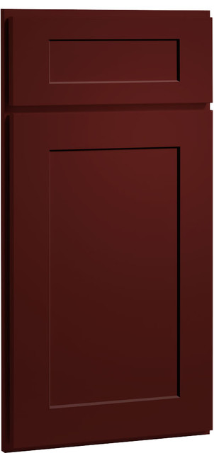Red Paint Shaker Kitchen Cabinet Sample farmhouse kitchen cabinets
