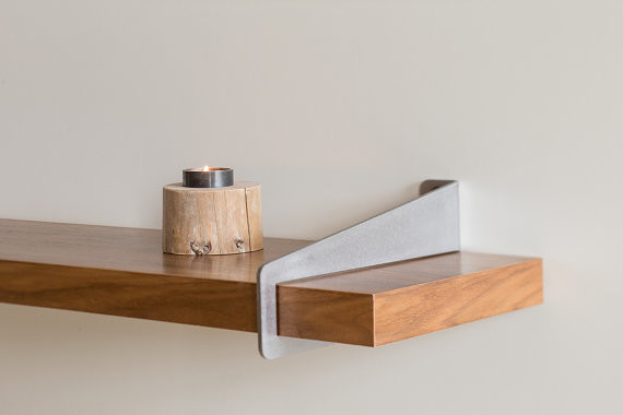 Wall stirrup shelf brackets modern display and wall for Contemporary display shelves