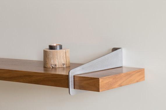 Wall-Stirrup Shelf Brackets - Modern - Display And Wall Shelves - portland - by Quartertwenty