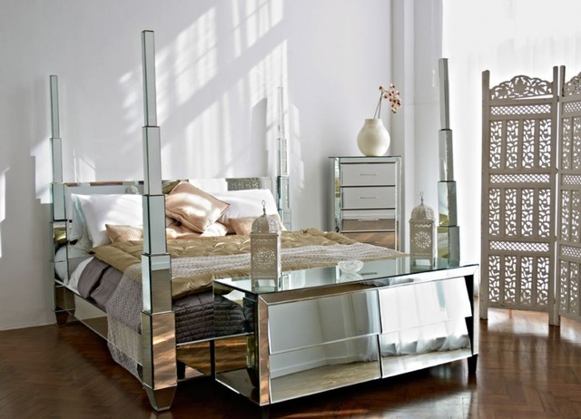 old hollywood mirrored bedroom furniture contemporary