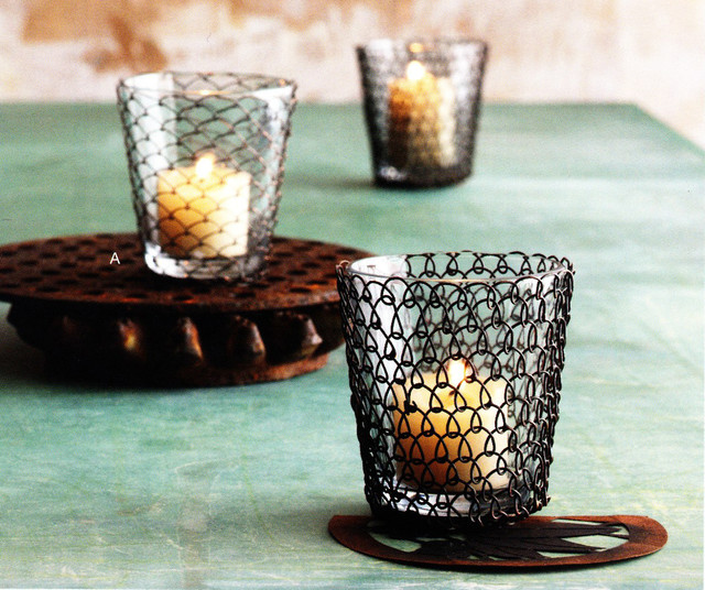 Boucle Wire Tea Light modern-candles-and-candle-holders