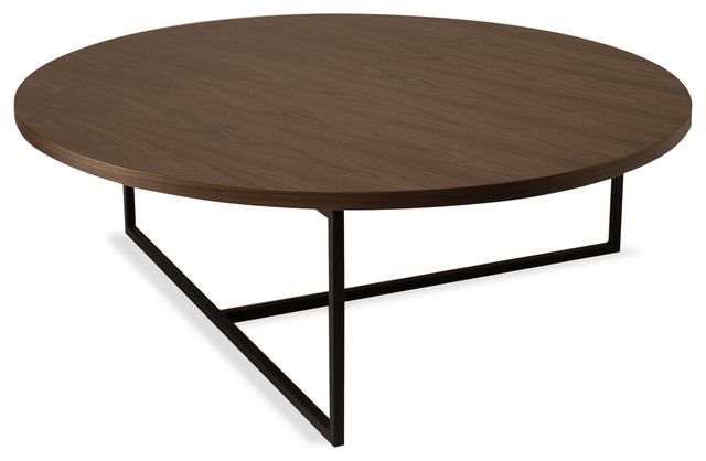 Turner Walnut Round Coffee Table Contemporary Coffee Tables By Bryght