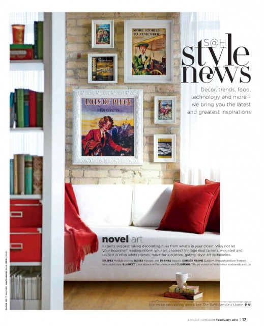 Novel posters (via Feb Style@Home) eclectic