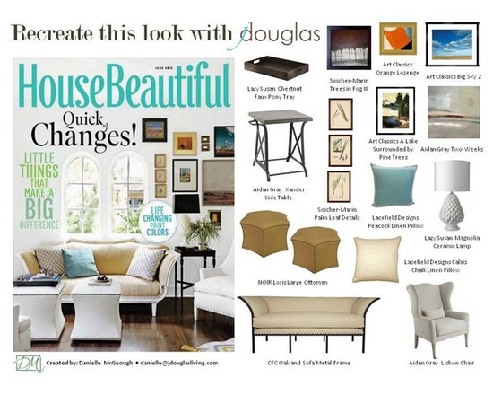 Art Classics, CFC, Lacefield Designs, Lazy Susan, NOIR & Soicher Marin - Recreate this look with jdouglas - House Beautiful June 2012 - Danielle McGeough, image used from House Beautiful June 2012
