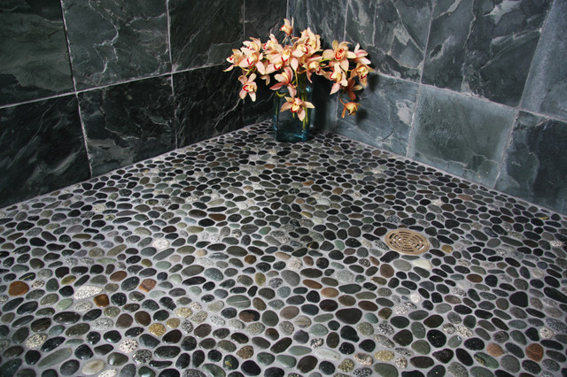 Island Stone Java Grey Perfect Pebble Floor 2 Tile