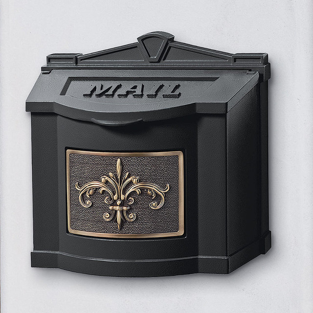 Wall Decor Mailbox : Fleur de lis wall mount mailbox traditional mailboxes