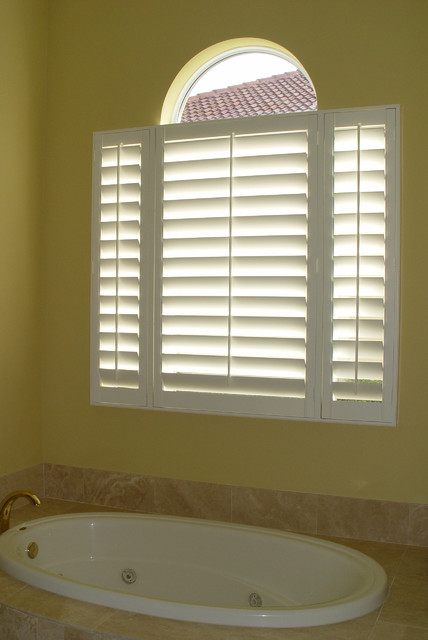 Elite Shutters In Bathroom Settings Traditional Window